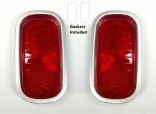 Pair 1960-66 Chevy/GMC Truck Tail Light Lamp Lenses, Bezels, & Gaskets