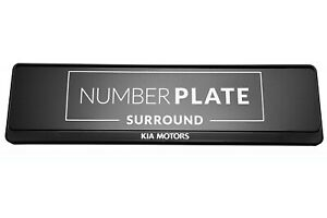 1x Prestige Black Stainless Steel Number Plate Holder for any Kia
