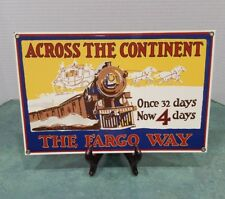 Across The Continent The Fargo Way Porcelain Metal Sign Railroad Train