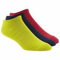 New Men's Reebok AB5306 CrossFit No Show Comfort Socks 3-Pack Athletic Apparel