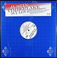 "JUSTIN TIMBERLAKE ""MY LOVE (REMIXES)"" 2006 2X12"" PROMO VINYL 7 MIXES *SEALED*"