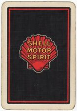 Playing Cards 1 Single Swap Card - Old Antique Wide SHELL MOTOR SPIRIT Seashell