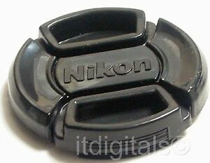 52mm For Nikon Snap-on Front Lens Cap Glass Safety Cover Center Pinch LC52