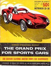Riverside Grand Prix Oct 15_16 1960 Program