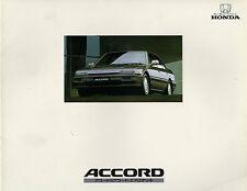 Honda Accord 1987 Japanese Market JDM Sales Brochure Saloon Aerodeck