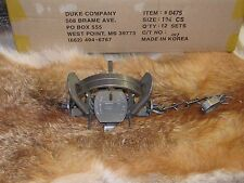 6  Duke # 1 3/4 (1.75) Coil Spring Trap Raccoon  Bobcat Badger  coyote NEW SALE