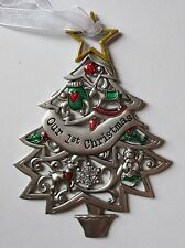 ccd Our 1st first Christmas ORNAMENT Newlywed Wishes Tree Ganz angel wedding