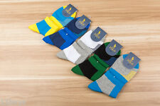 5 Pairs Pack Mens Sport HJC Polo Cotton Quarter Socks With Arch Support Athletic