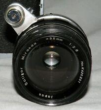 Vtg 1962 Soligor Miranda 35mm f2.8 for Miranda Mount w Leather Case No.620201