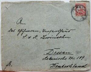 2870 German Colonies Dsw German South West Africa Letter Ef 10 Penny 1910