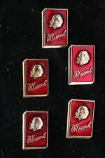 NOS! Lenin Book Club Lot of 5 Soviet Badge Pin Medal Communist Red Banner