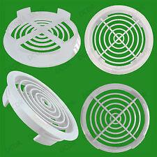 100 Blanc Vivarium Reptile Push Fit Rond Ouvertures Aération 80mm 70mm trou ,