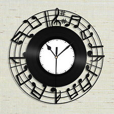 Sheet Music Clock, Sheet Music Wall Art, Music Notes Clock, Large Music Clock