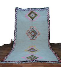 Berber Handmade Azilal Carpet 5 x 10 - Beni Ourain White Moroccan Boho Area Rug