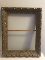 "Antique Victorian Picture Frame Ornate Wood Plaster Gold Gilt 25.5""x 20.5"""