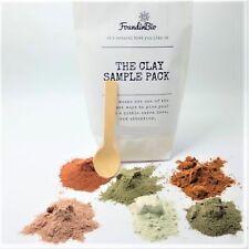 Sampler Pack Natural Healing Clay Powder Face Body Beauty Pink Green Rhassoul