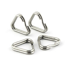 4pcs Stainless steel chrome camera strap triangle rings hooks D ring for DSLR