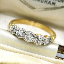 Edwardian 18ct Yellow Gold & Platinum 0.70ct Old Cut Diamond Ring Size J'