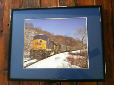 Train photograph framed cask selkirk NY General Electric ES44AC photo picture
