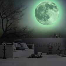 30cm Luminous Moon Glow in the Dark Wall Stickers Moonlight Decor Waterproof UK