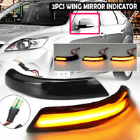 2x Dynamic LED Turn Signal Mirror Light Indicator For Ford Focus Mk2 Mk3 Mondeo