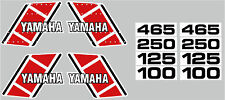 1981 YAMAHA YZ 100 125 250 465 TANK & SIDE PANEL DECALS