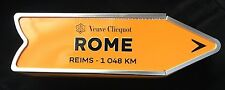 VEUVE CLICQUOT CHAMPAGNE ARROW DESTINATION SIGNPOST DECORATION ONLY- ROME