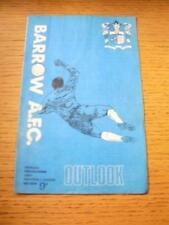 02/03/1969 Barrow v Barnsley  (Creased, Folded & Team Changes). No obvious fault