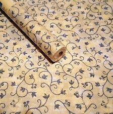 "9ft x 18"" BLUE IVY Vines Shelf liner contact wall paper peel & stick"