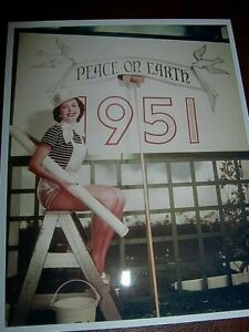 """ANN MILLER COLOR PHOTO of welcoming 1951 8"""" x 10"""" ANN putting up decorations"""