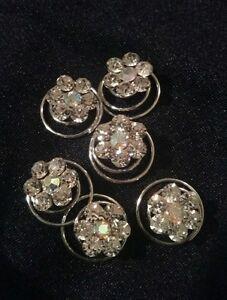 10 Screw In Spiral Hair Pins Deb Wedding Bridal Flower Flowergirl Bridesmaid NEW