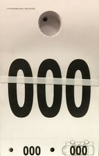 Mirror Service Dispatch Numbers • Long Hang Tags • Qty. 1000 • White • (Oss)