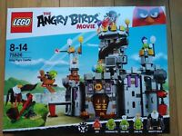 BRAND NEW AND SEALED LEGO 75826 ANGRY BIRDS KING PIG CASTLE