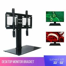 """Desk Top Monitor Table TV Stand Bracket Mount Plasma LCD LED 22-32"""" inches VESA"""