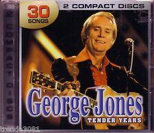 GEORGE JONES Tender Years 2CD Classic Country SHE THINKS I CARE WHITE LIGHTNING
