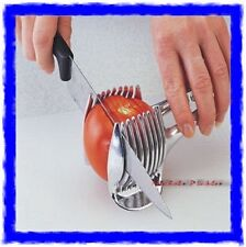 QUALITY KITCHEN TOMATO EGG FRUIT POTATO SLICING AID HELPER SLICER - CHROME STEEL