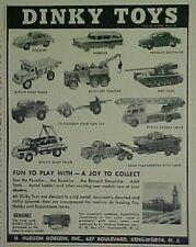 1958 Dinky Diecast Cars~Trucks~Tanks~Porsche~Vehicles Toy Memorabilia Trade AD