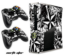 Skin Decal Wrap for Xbox 360 Slim Gaming Console & Controller Xbox360 Slim NS W