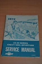 Werkstatthandbuch CHEVROLET 1972 10- 30 Series Chevy Van Sportvan Service Manual