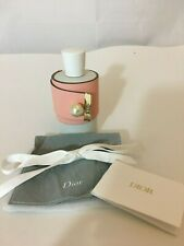 DIOR 132319 FAUX PEARL PINK LEATHER BRACELET CUFF