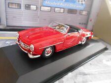 MERCEDES Benz 190 SL 190sl ROADSTER 1965 ROSSO RED w121 MAXI Champs Minichamps 1:43