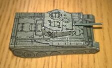 Small thin card British Cromwell tank WW2 1970s roughly N Gauge