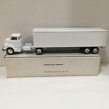 1950 Chevy Semi Truck ERTL Diecast Bank Tractor Trailer White Undecorated NEW