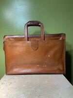 Hartmann Belting Leather Attache Briefcase Portfolio Drop Handles Vintage