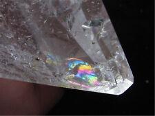 189g AA++ NATURAL rainbow CLEAR QUARTZ CRYSTAL PYRAMID HEALING *