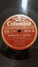 EDITH PIAF on COLUMBIA BF 370 FRENCH CHANSON 78 RPM - Demain - Avant L'Heure