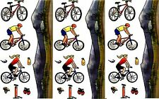 3 Large Sheets CYCLING Mountain Biking Scrapbook Stickers!