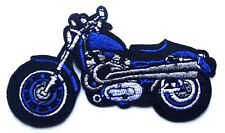 Blue Motorbike patch custom classic Embroidered Iron Sew On Biker Motorcycle