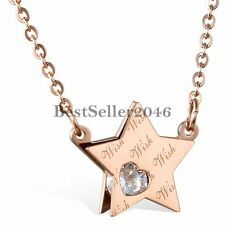 Pentacle Star Pentagram Stainless Steel Pendant Necklace Women's Ladies Gifts