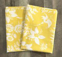 Vintage Martex King Pillowcases 2 Yellow Floral No Iron Percale
